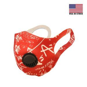 Accessories - FACE NOSE AIR PURIFYING MASK RED